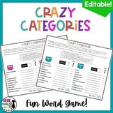 Crazy Categories Word Games