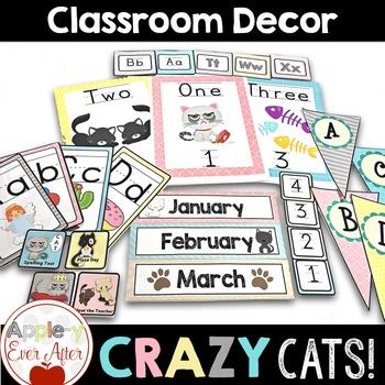 Crazy Cats Classroom Decor - Over 180 Pages of Classroom Essentials!
