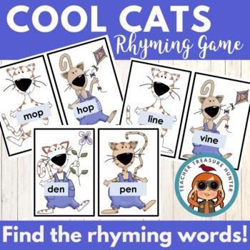 Crazy Cats Rhyming - Short & Long Vowels