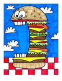 Crazy Cheeseburger Coloring Page