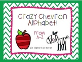Crazy Chevron Alphabet Letters