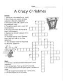 Crazy Christmas Parts of Speech Crossword