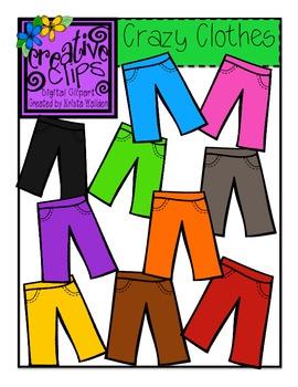 Crazy Clothes {Creative Clips Digital Clipart}