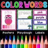 Color Words Posters Labels Playdough Mats