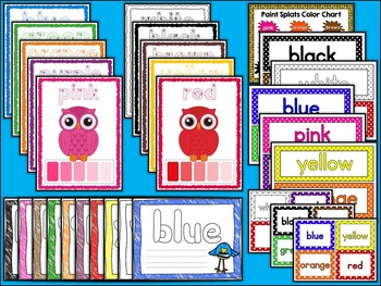 Color Words | Posters | Playdough Mats | Labels