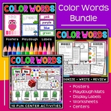 Color Words Bundle | Worksheets | Activities for Learning Colors | Centers