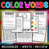 Color Words Worksheets | Activities for Learning Colors