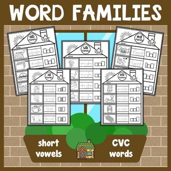 CVC Words Family Houses