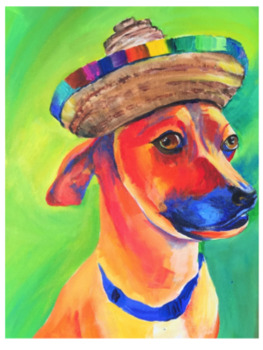 Crazy Colored Dogs in Acrylic