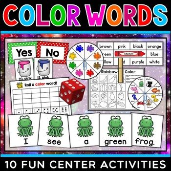 Color Words Centers