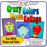 Art Lesson Crazy Colors Face Collage