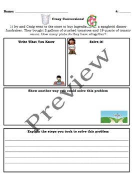 Crazy Conversions Differentiated Worksheets