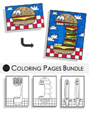Cookout Coloring Pages Bundle