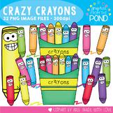 Crazy Crayons Clipart