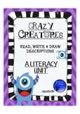 Crazy Creatures - Read, Write & Draw (UK English spelling)