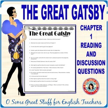 THE GREAT GATSBY CHAPTER 1  Close Critical Reading Questions