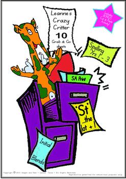 Crazy Critter's 10 Activities - ST Words - Booklet