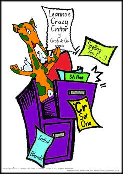 Crazy Critter's 3 Activities - CR Words - Set 1 Bundle