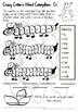 Crazy Critter's 3 Activities - CR Words - Set 3 Bundle