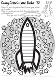 Crazy Critter's Letter Rocket - ST Worksheet