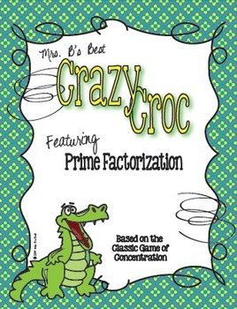 Crazy Croc Card Game: Prime Factorization