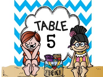 Crazy Cute Beach Table Numbers