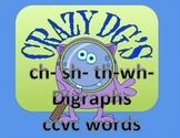 Crazy DG   th, wh, sh & ch   digraphs  CCVC