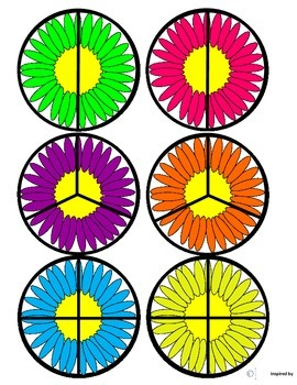 """Crazy Daisy"" Fraction Circles for Autism"