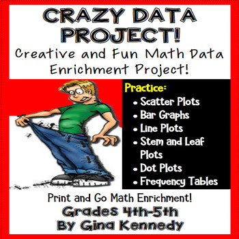 Data Project, Crazy Data Math Enrichment Project!