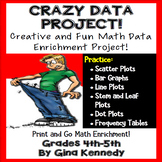 """Crazy"" Data, Tables and Graphs Math Enrichment Project"