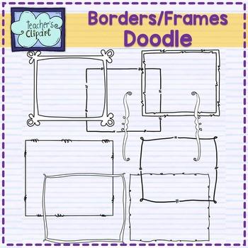 Crazy Doodle frames-borders Clip art by Teacher\'s Clipart | TpT