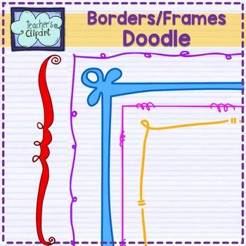 Crazy Doodle frames-borders Clip art
