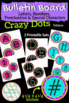 Crazy Dots Bulletin Board Letters & Numbers: 3 Sets