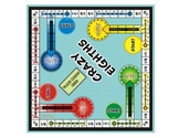 Crazy Eighths! Fraction Board Game (play it just like the board game Sorry)