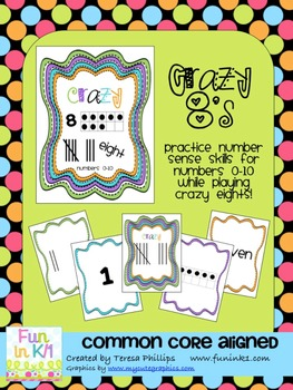 Crazy Eights Number Sense Card Game