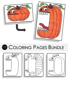 Fall Coloring Pages Bundle