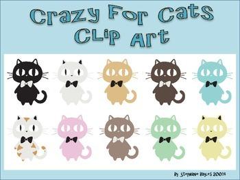 Crazy For Cats Clip Art
