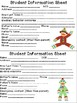 Crazy For Sock Monkey Student information cards