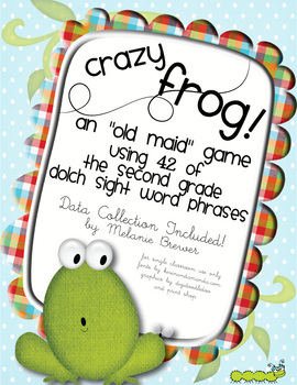 Crazy Frog! Sight Word Phrase Game for Second Grade. With Data Collection!