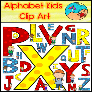Crazy Fun Alphabet Kids Clipart