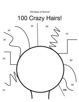 Crazy Hair Math for 100 Days of School