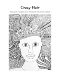 Crazy Hair Printable Drawing Project