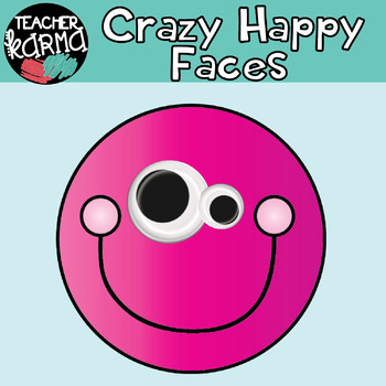 Crazy Happy Faces: Smiley Faces Graphics with Googly Eyes