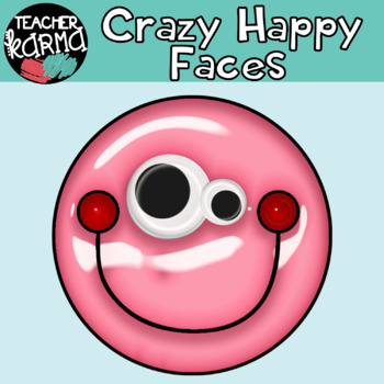 Crazy Happy SHINY Faces: Smiley Faces Graphics with Googly Eyes