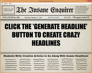 Crazy Headline Writing Prompt Generator