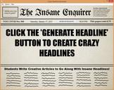 Crazy Headline Writing Prompt Generator