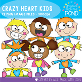 Crazy Heart Kids Clipart