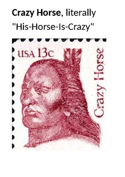 Crazy Horse Picture Pack