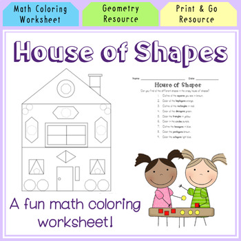 Crazy House of Shapes Coloring Page