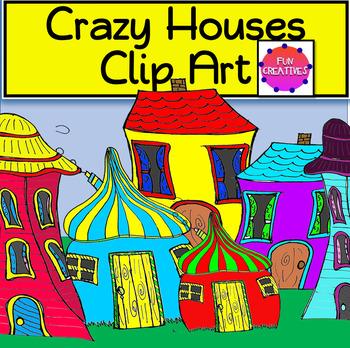 Crazy Houses Clip Art